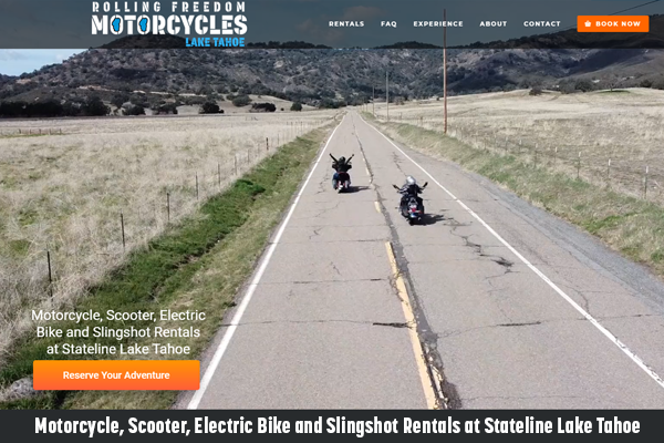 Motorcycle, Scooter, Electric Bike and Slingshot Rentals at Stateline Lake Tahoe